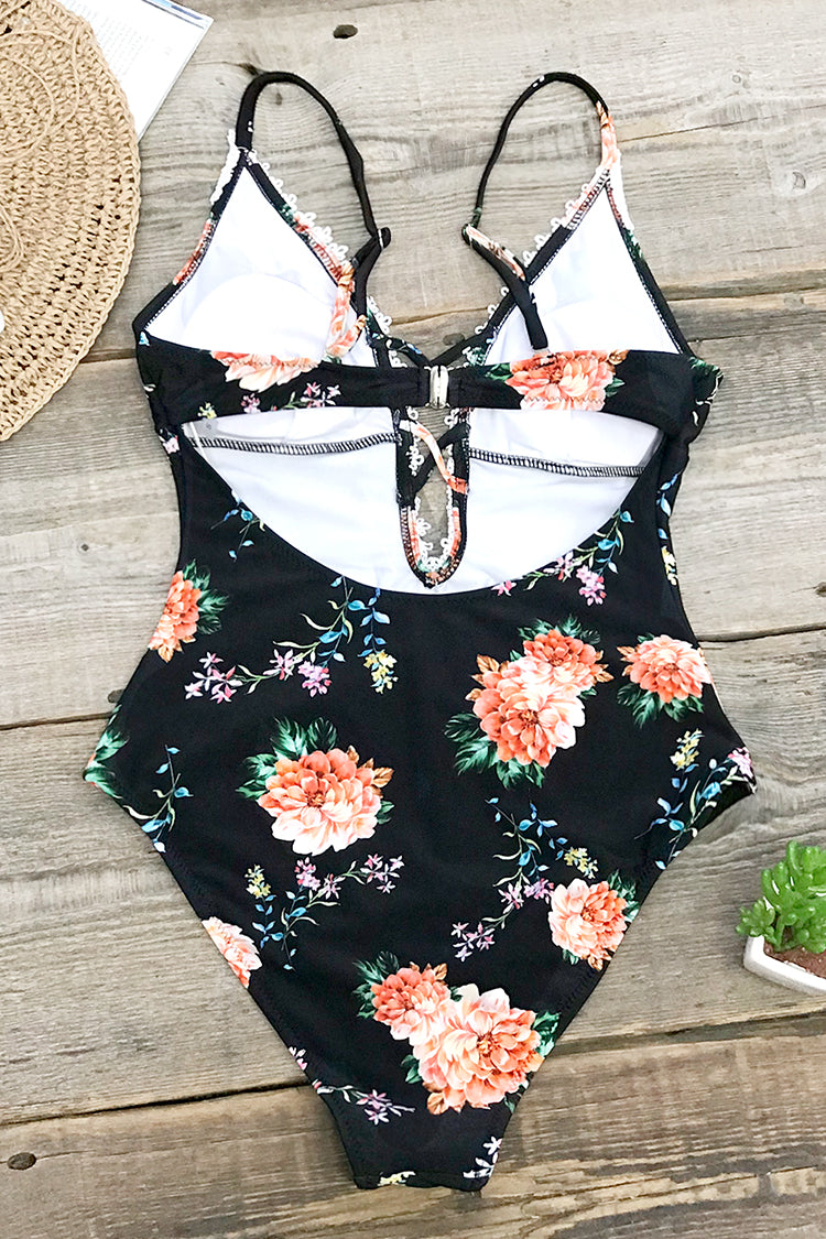 Flirty Floral One-Piece Swimsuit