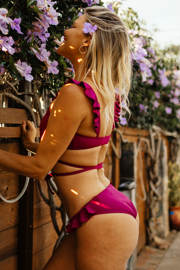 Sugar Plum Ruffled Bikini