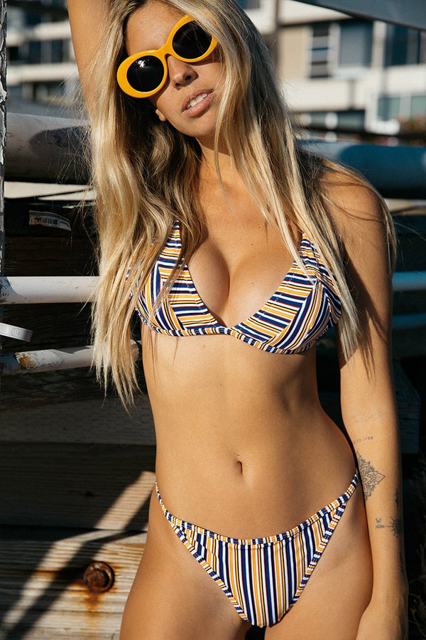 Ordinary World Stripe Triangle Bikini