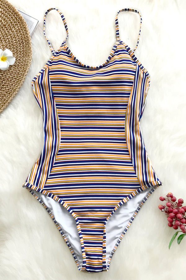 Ordinary World Stripe One-piece Swimsuit