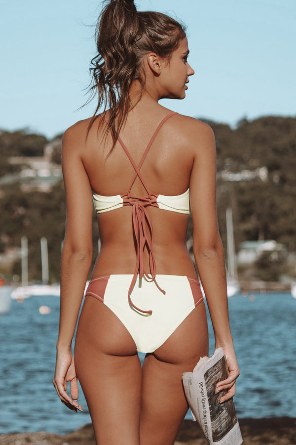 Red and White Twisted Wrap Bikini