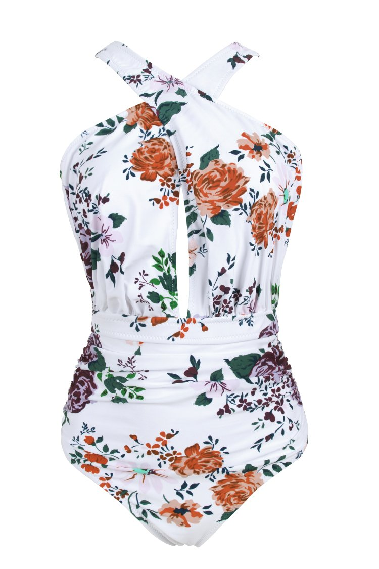 Rose Garden Wrap One-Piece Swimsuit