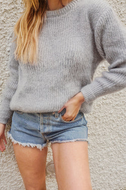 Gray Fuzzy Sweater