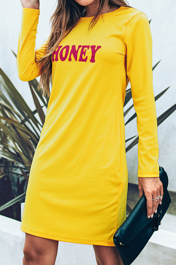 Long Sleeve Honey Dress