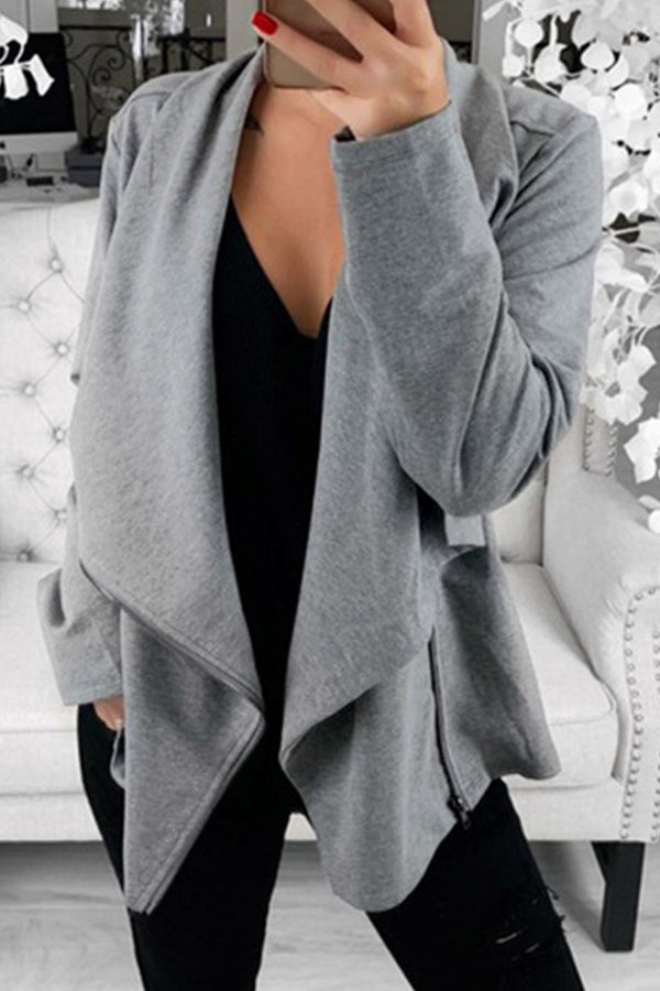 Asymmetrical Zip Cardigan Sweater