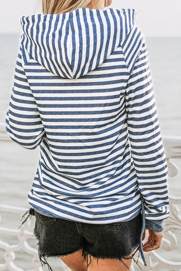 Blocked and Striped Hoodie