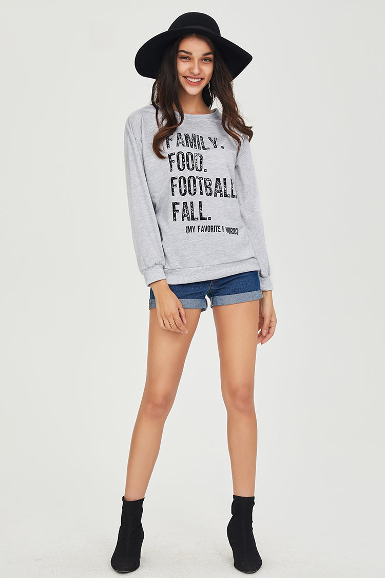 Family Food Football Fall Sweater