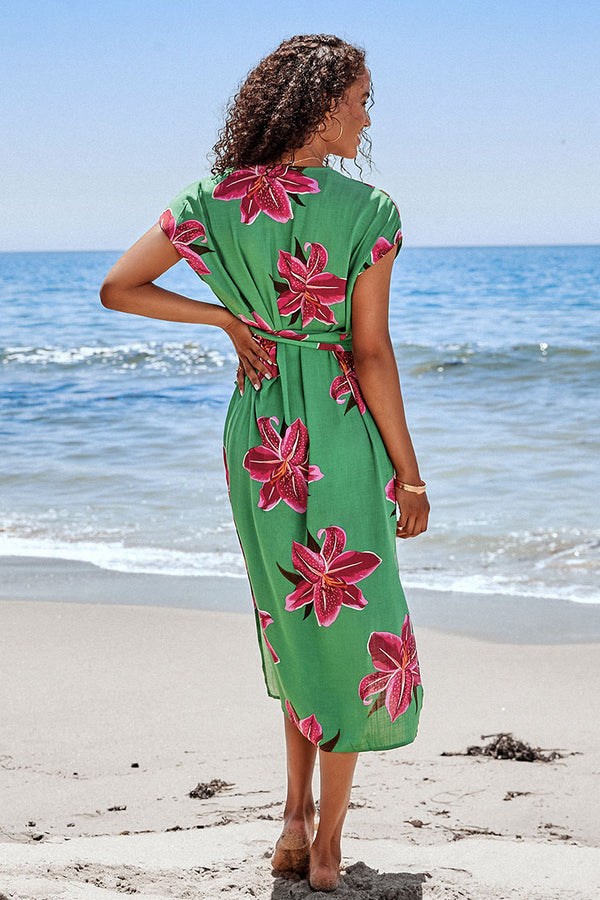 Evelynn Floral V-neck Maxi Dress