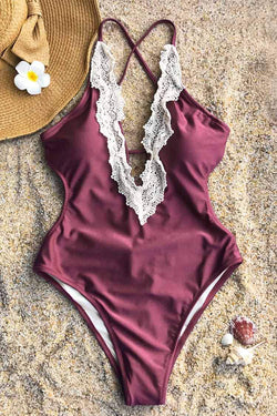 Enormous Enjoyment Lace One-piece Swimsuit