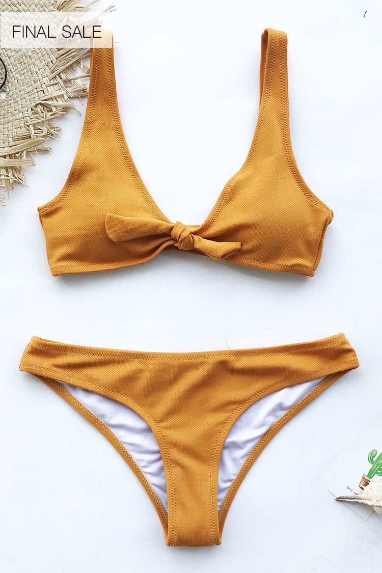 Art Treasure Solid Bikini Set