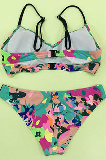 Cupshe Only for You Camouflage Bikini Set