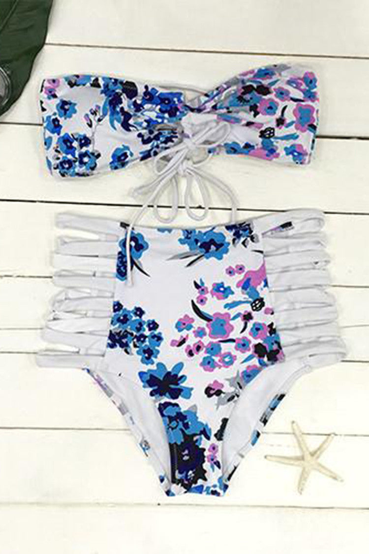 Cupshe Lazy Day Strappy Bikini Set