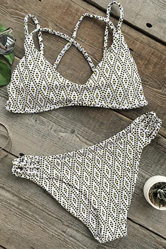 Cupshe Simple Minds Printing Bikini Set