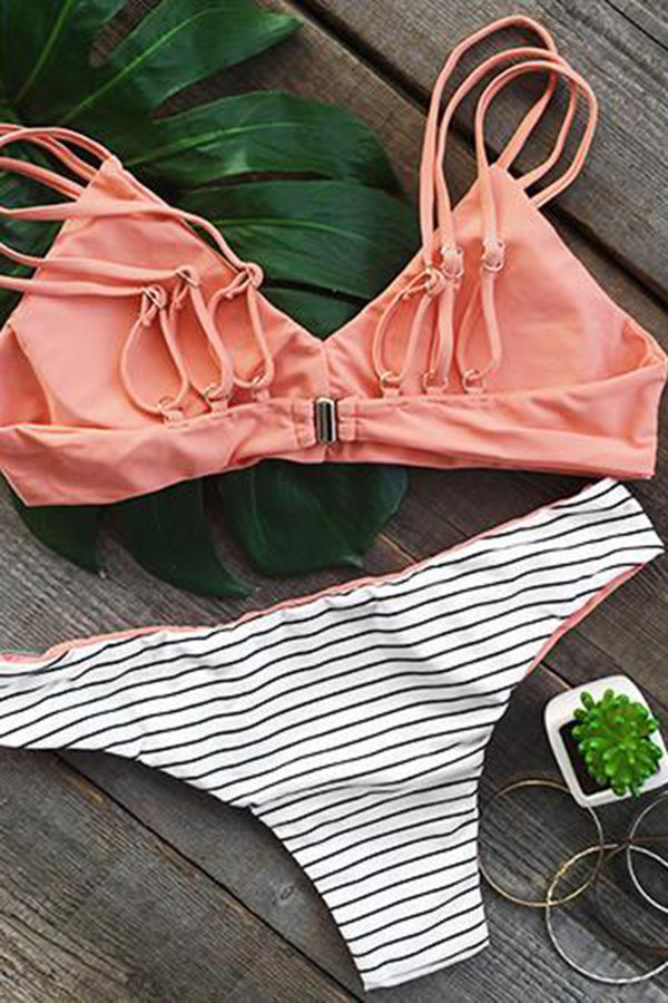 Set You Straight Strappy Bikini Set