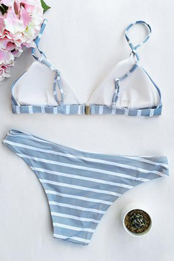 Sea Of Me Stripe Bikini Set