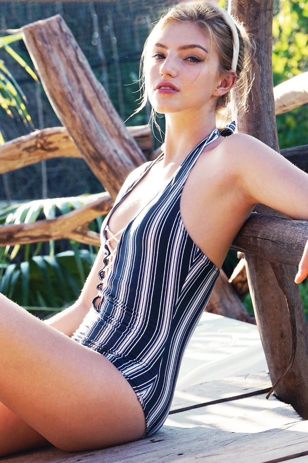 She Is Mature Halter One-piece Swimsuit