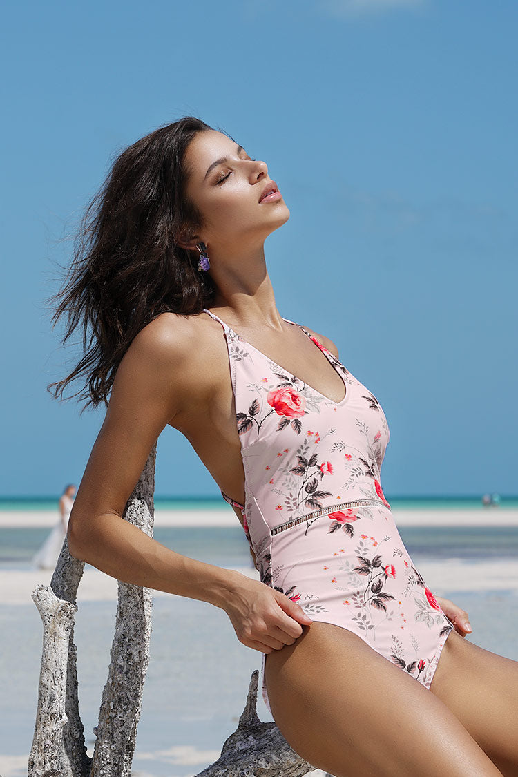 Shallow Waters Print One-piece Swimsuit