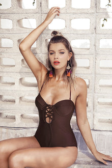 Cupshe Slow Time Halter One-piece Swimsuit