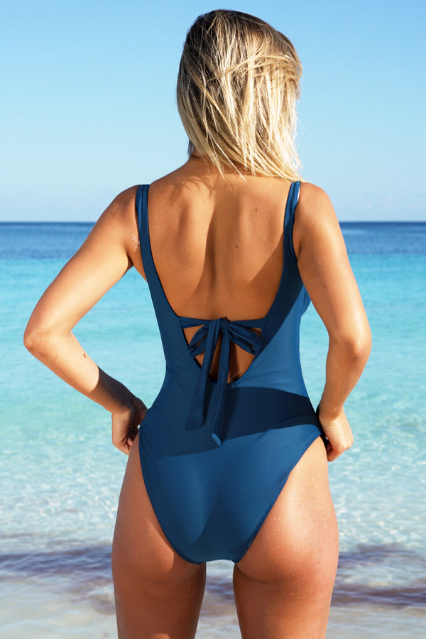 Happy Online V-neck One-piece Swimsuit