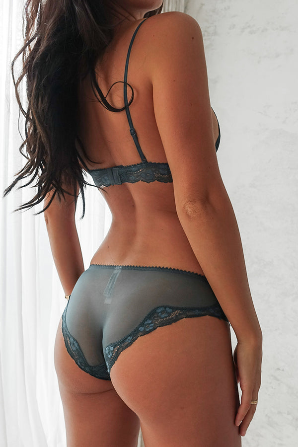 Teal Lace Lingerie