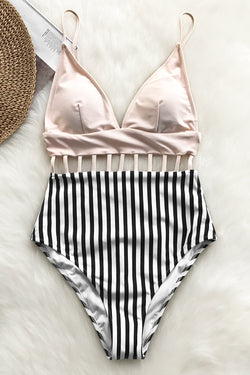 Afternoon Sunshine Strappy One-piece Swimsuit