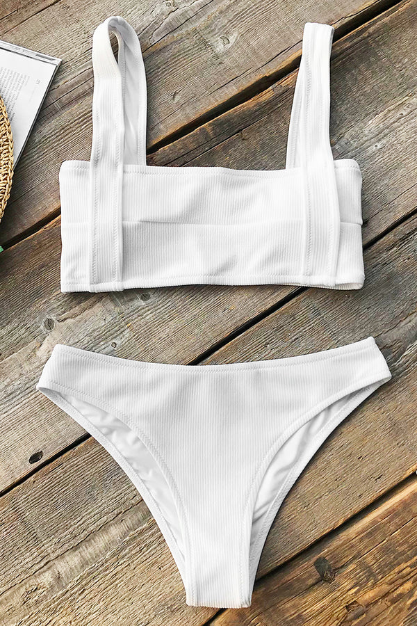 Innocent Eyes Solid Bikini Set