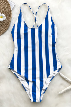 Beauty Of Nature Stripe One-piece Swimsuit