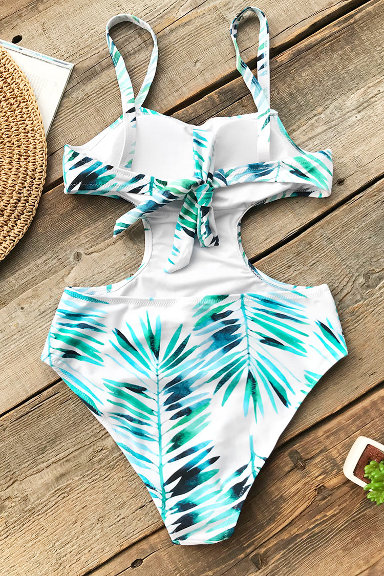 Bamboo Leaves One-Piece Swimsuit