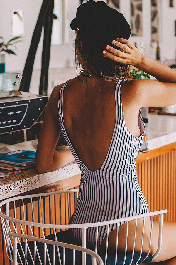 A Sunny Day Stripe One-piece Swimsuit