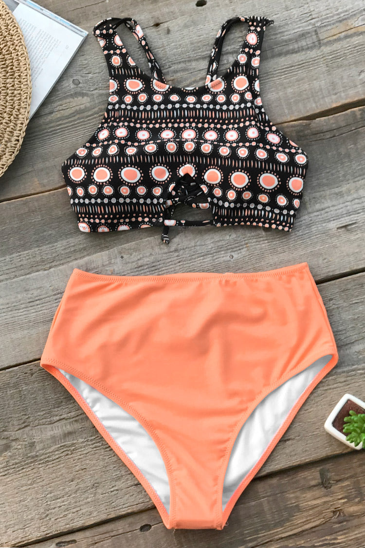 Image of Orange Boho Tank Bikini