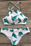 Cupshe Learn To Fly Leaves Bikini Set