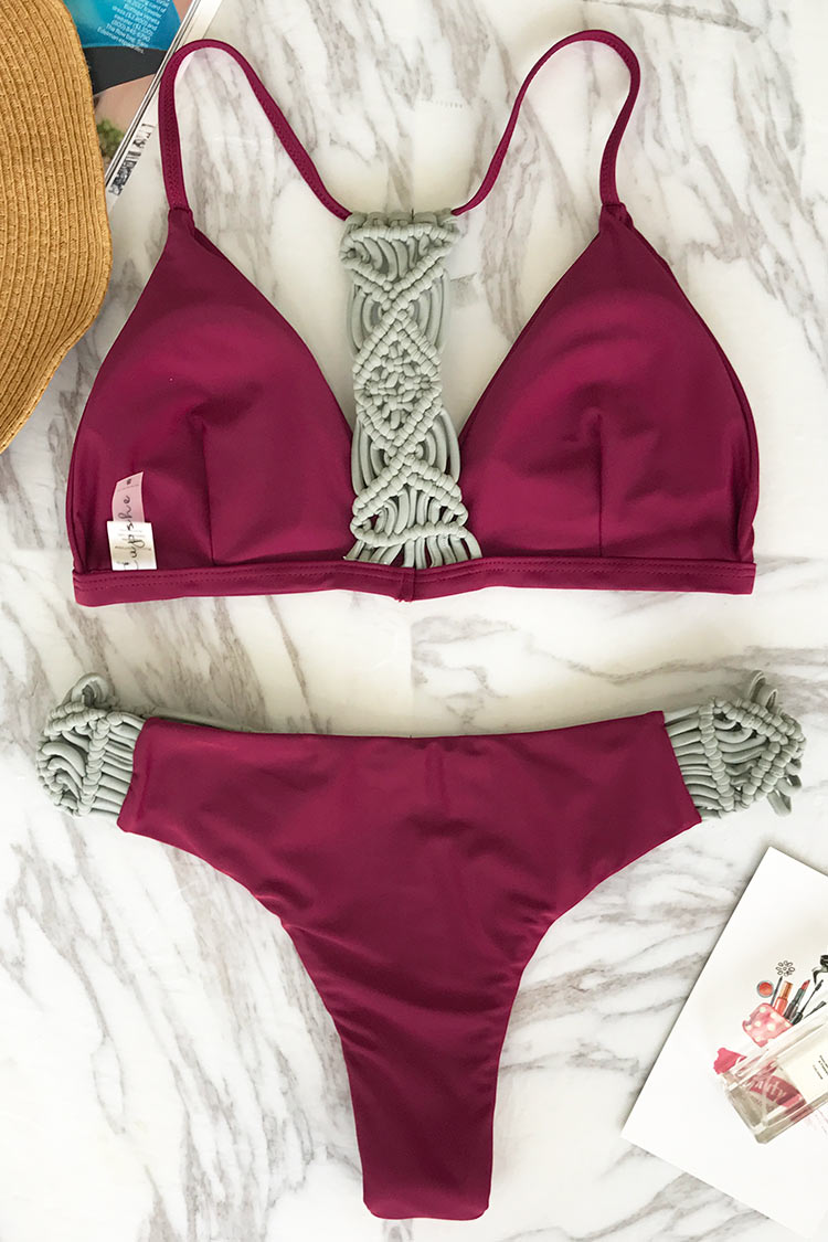 Cupshe Say To Only One Weave Bikini Set