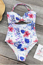 Cupshe Rain of Petals Print One-piece Swimsuit