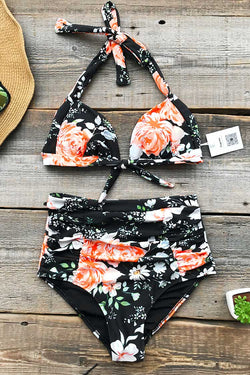 Faint Fragrance Print Bikini Set