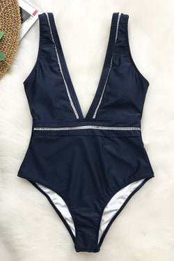 Tranquil Cove V-neck One-piece Swimsuit