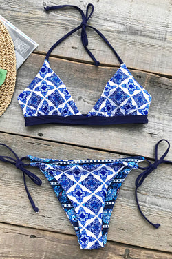 Tropical Geometry Print Bikini Set