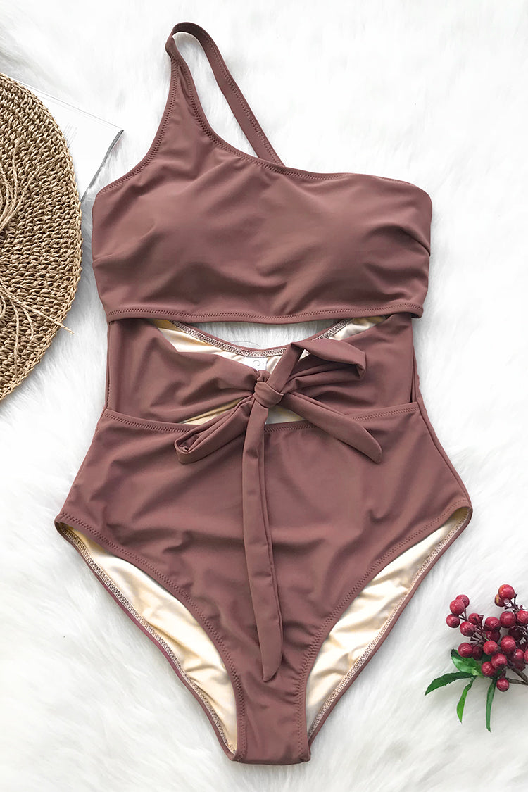 Air Of Romance Solid One-piece Swimsuit
