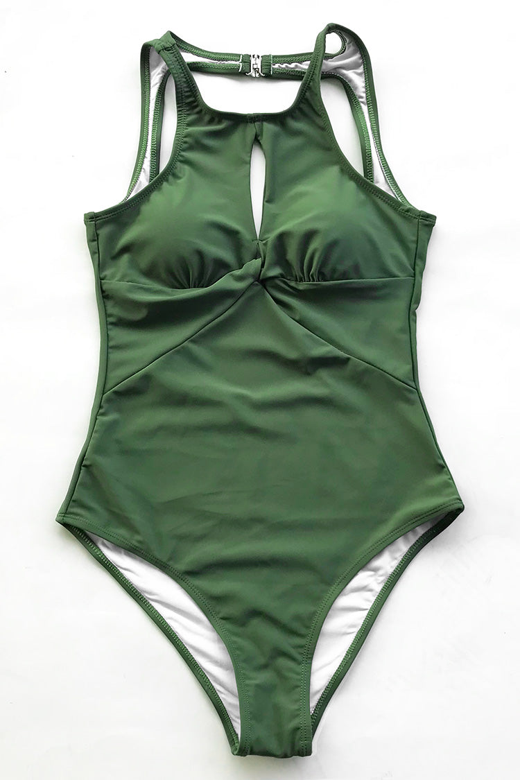 Fresh Air Cross One-piece Swimsuit