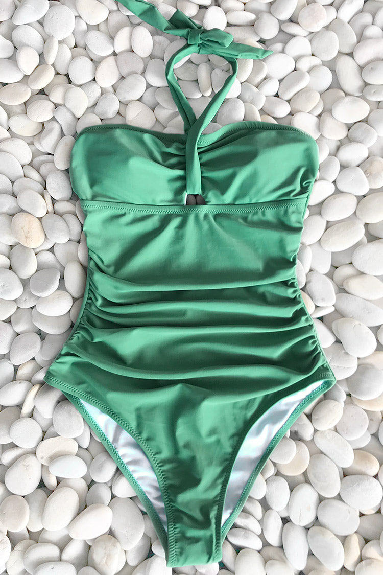 Full Of Vigor Shirring One-piece Swimsuit