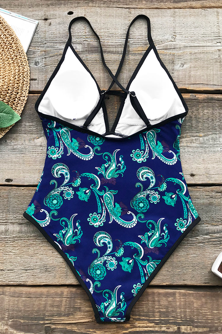 Exotic Place Print One-piece Swimsuit