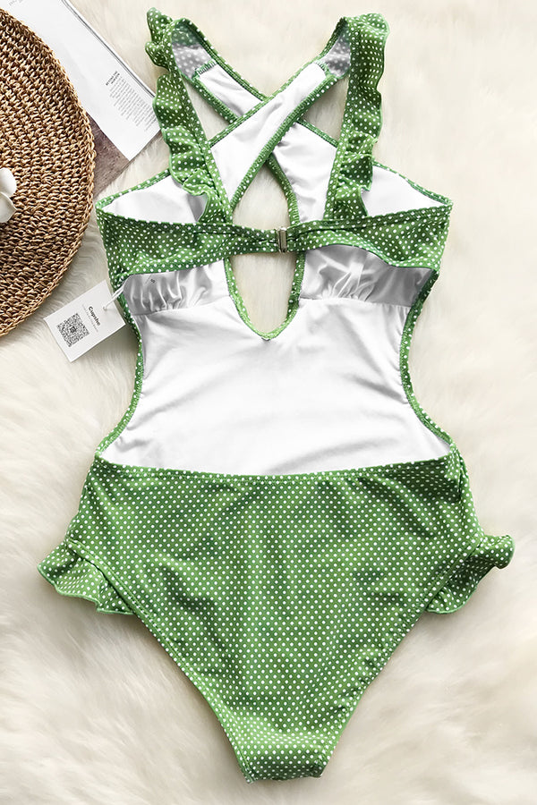 Lovely Girl Cross One-piece Swimsuit