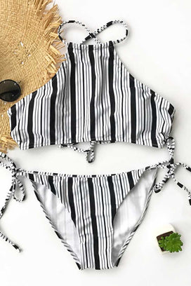 Cupshe Cool Zephyr Stripe Bikini Set