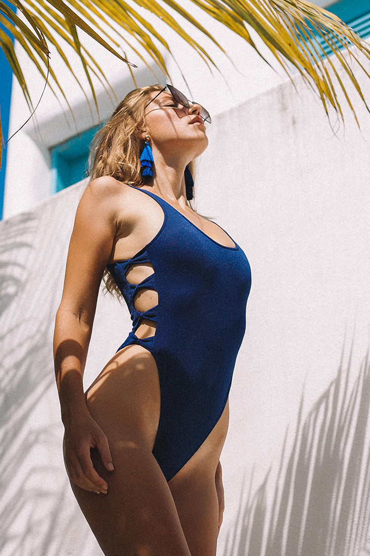 Lover's Prattle Solid One-piece Swimsuit