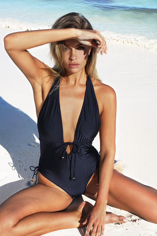 Best Wishes Halter One-piece Swimsuit