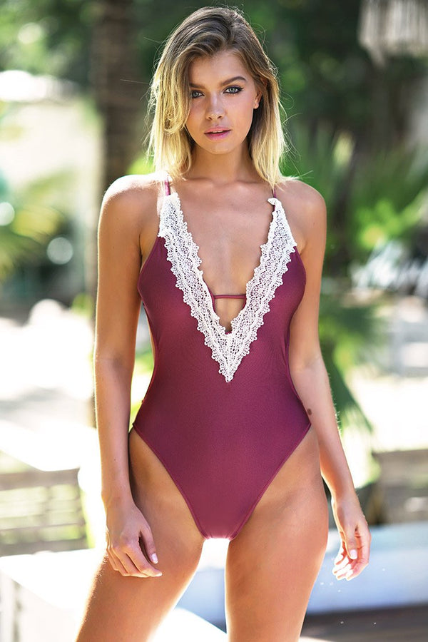 *Enormous Enjoyment Lace One-piece Swimsuit