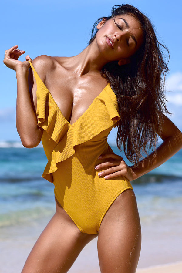 Divine Destiny Solid One-piece Swimsuit