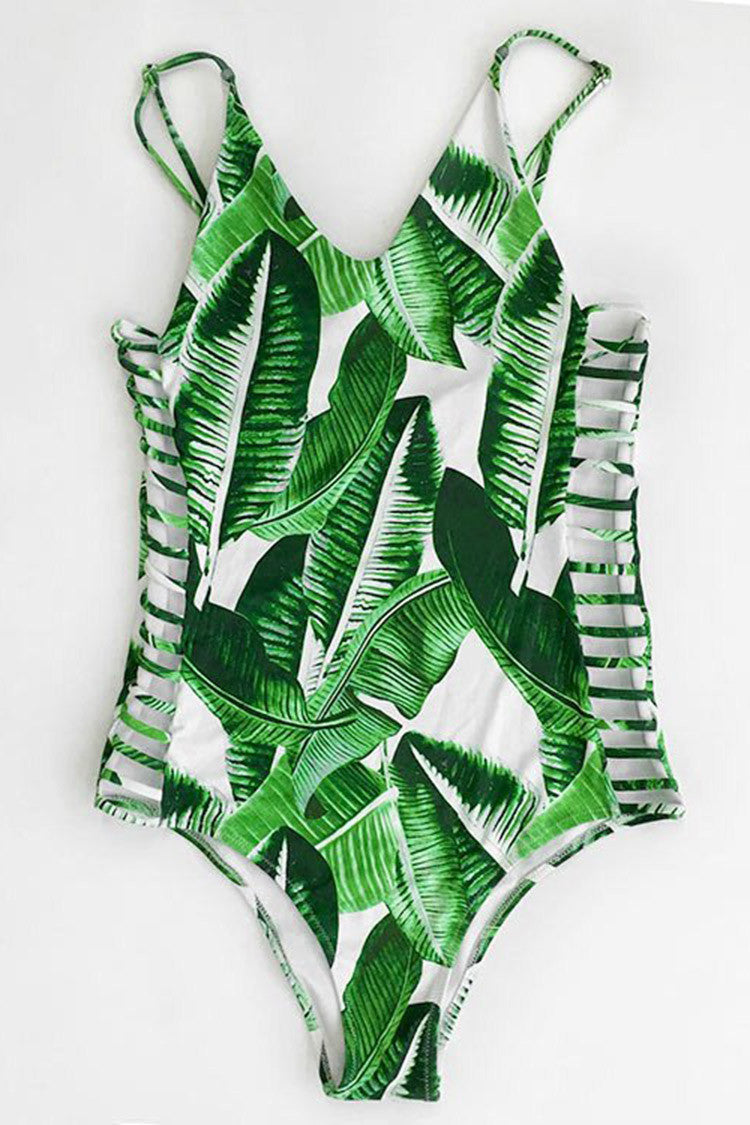 Cupshe Banana Leaves Print One-piece Swimsuit CYY614S