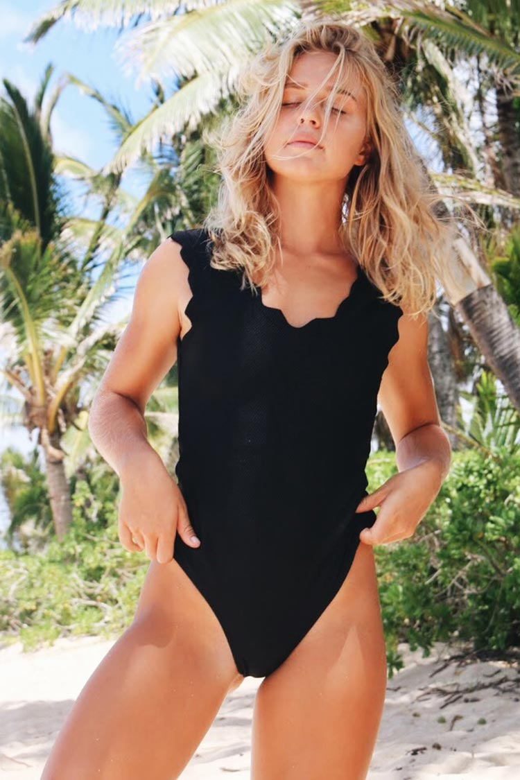 Cupshe Black Crystal One-piece Swimsuit
