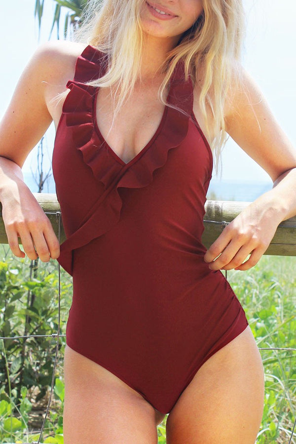 On a Whim Falbala One-piece Swimsuit