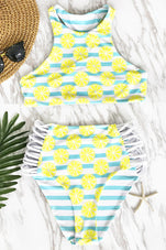 Cupshe Lemon Soda Tank Bikini Set